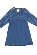 Tiny Twig Knit Jacquard Dress- Sapphire 0-3m