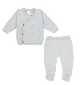 Tiny Twig Kimono 2pc Set- Gray