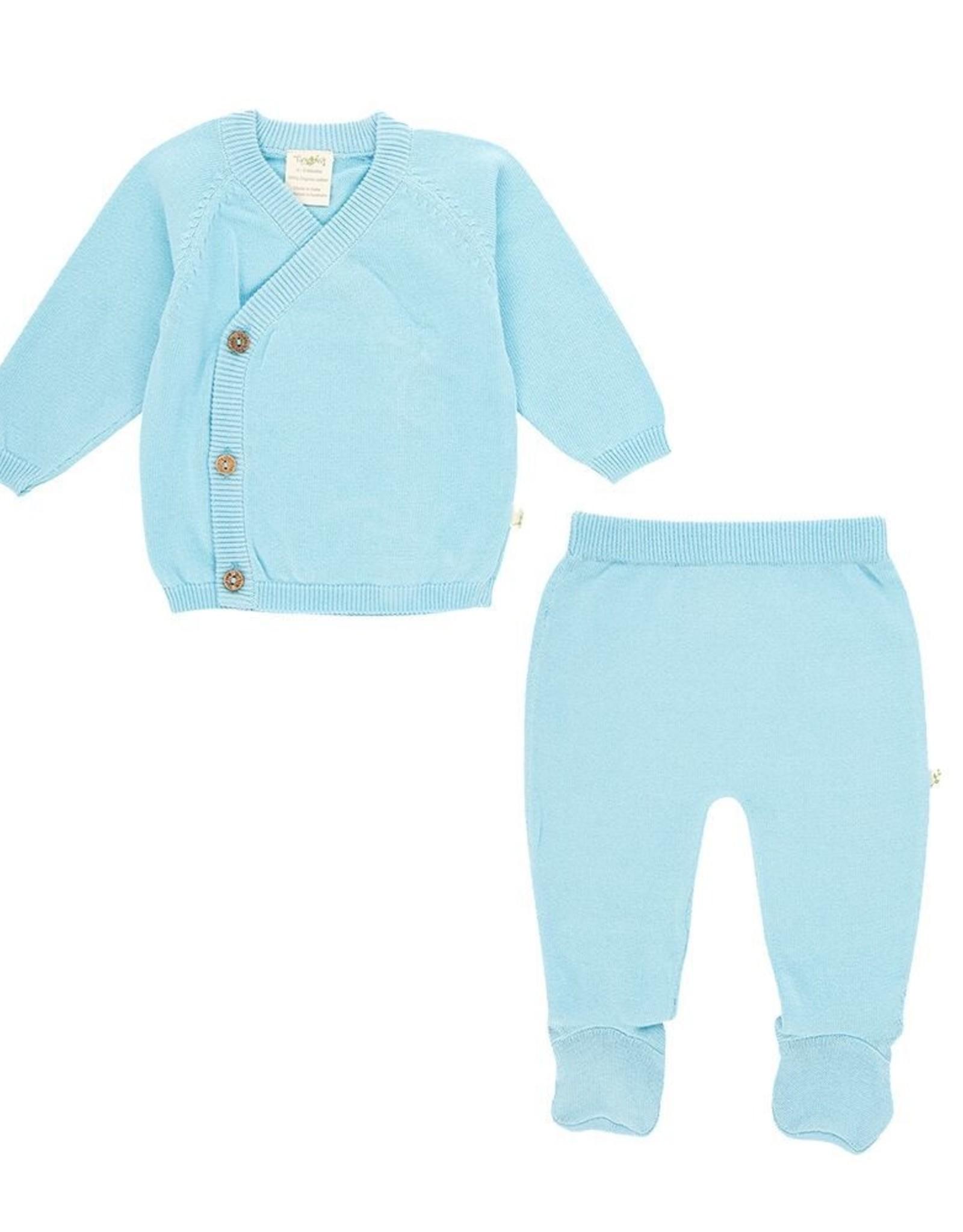 Tiny Twig Kimono 2pc Set- Blue Newborn