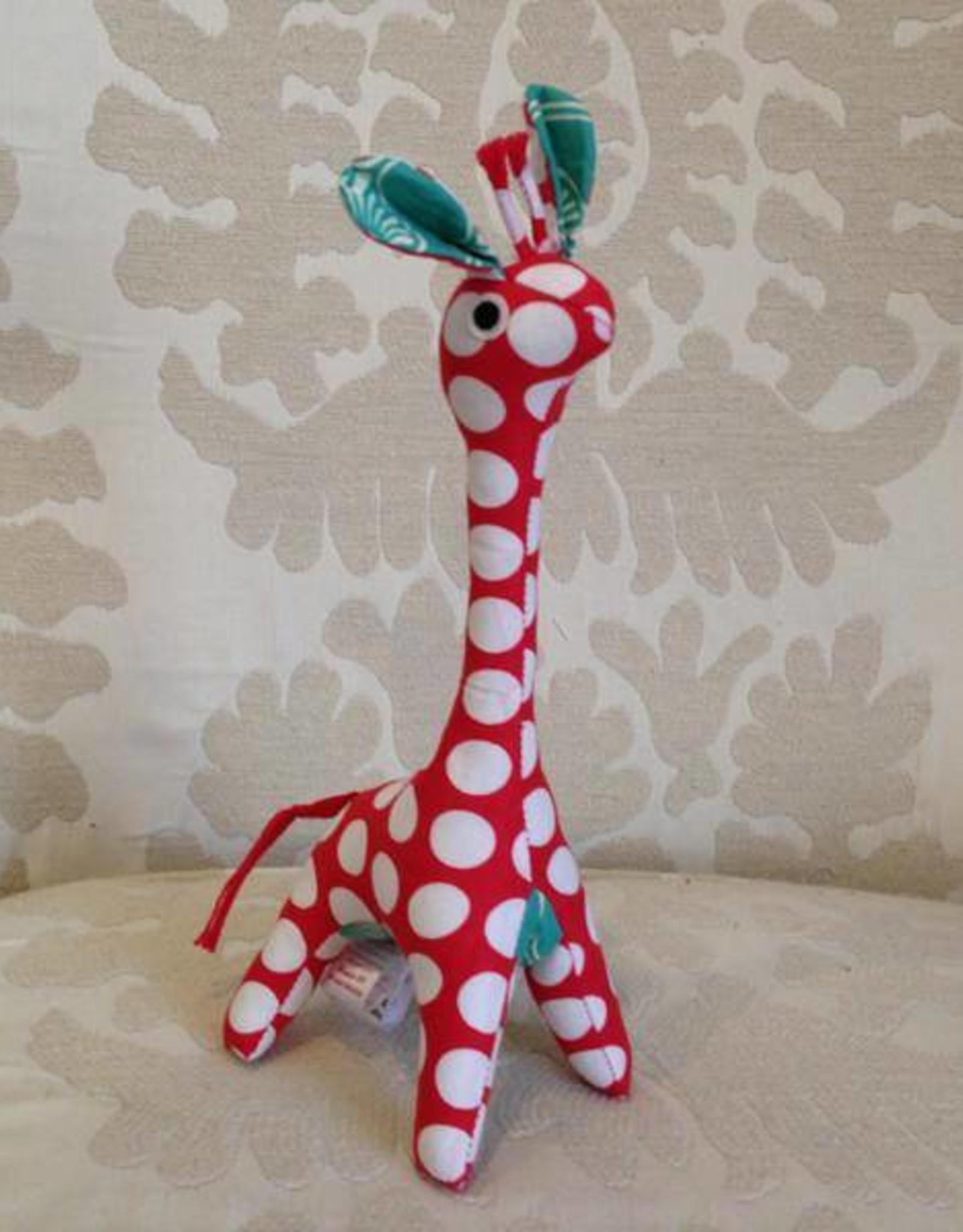 Scrappy Patchwork Giraffe Red