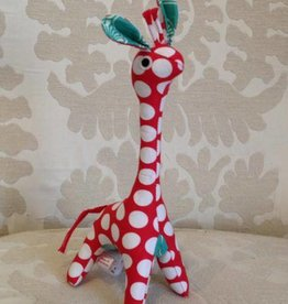 Scrappy Patchwork Giraffe Red