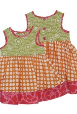 Scrappy Sun Dress- Orange Dot