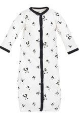Convertible Sleep Sack/Romper - Panda Print  0-3M