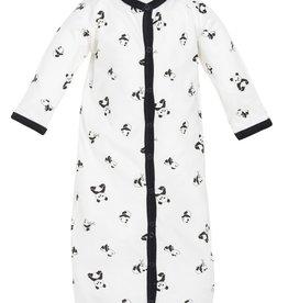 Convertible Sleep Sack/Romper - Panda Print  0-3M