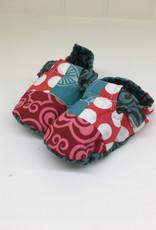 Scrappy Booties- Red Dots 0-6m