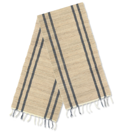 Vetiver Table  Runner - Seaside Indigo Stripe