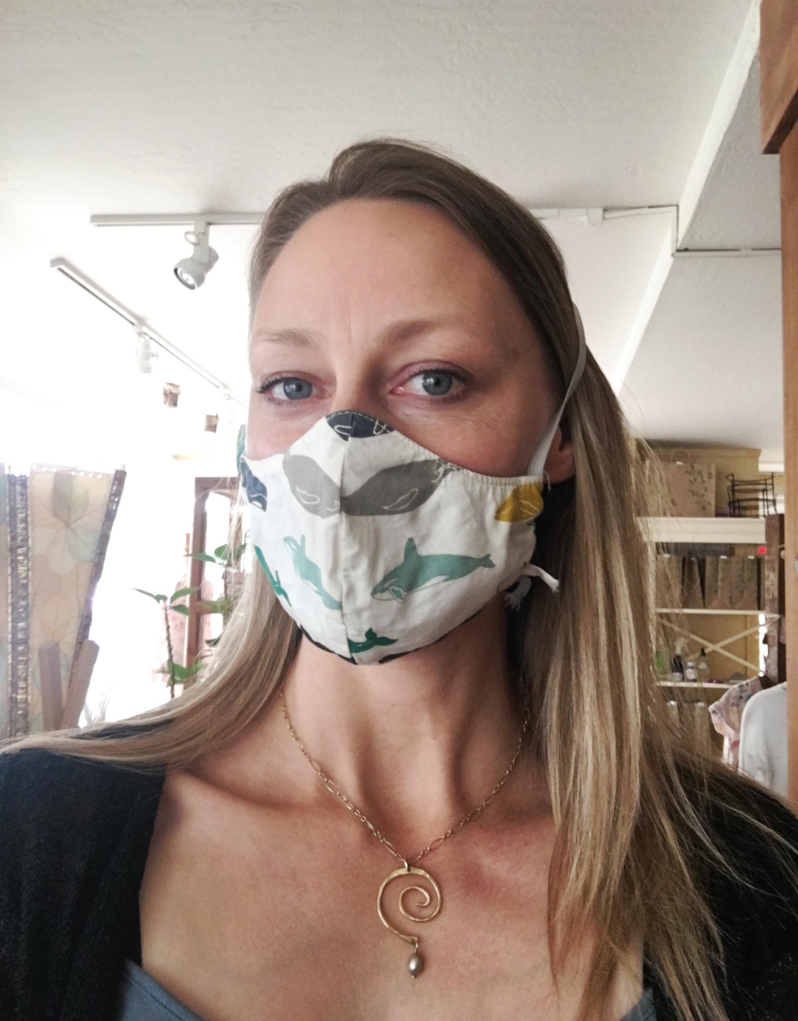 No Trace Santa Cruz Adult Contour Face Mask - Over the Head Elastics