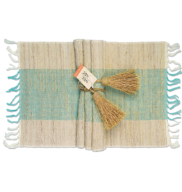 Vetiver Placemat Set of 6 - Turquoise