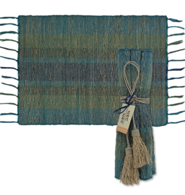 Vetiver Placemat Set of 6 - Deep Forest