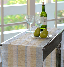 Vetiver Table Runner - Serene Stripe
