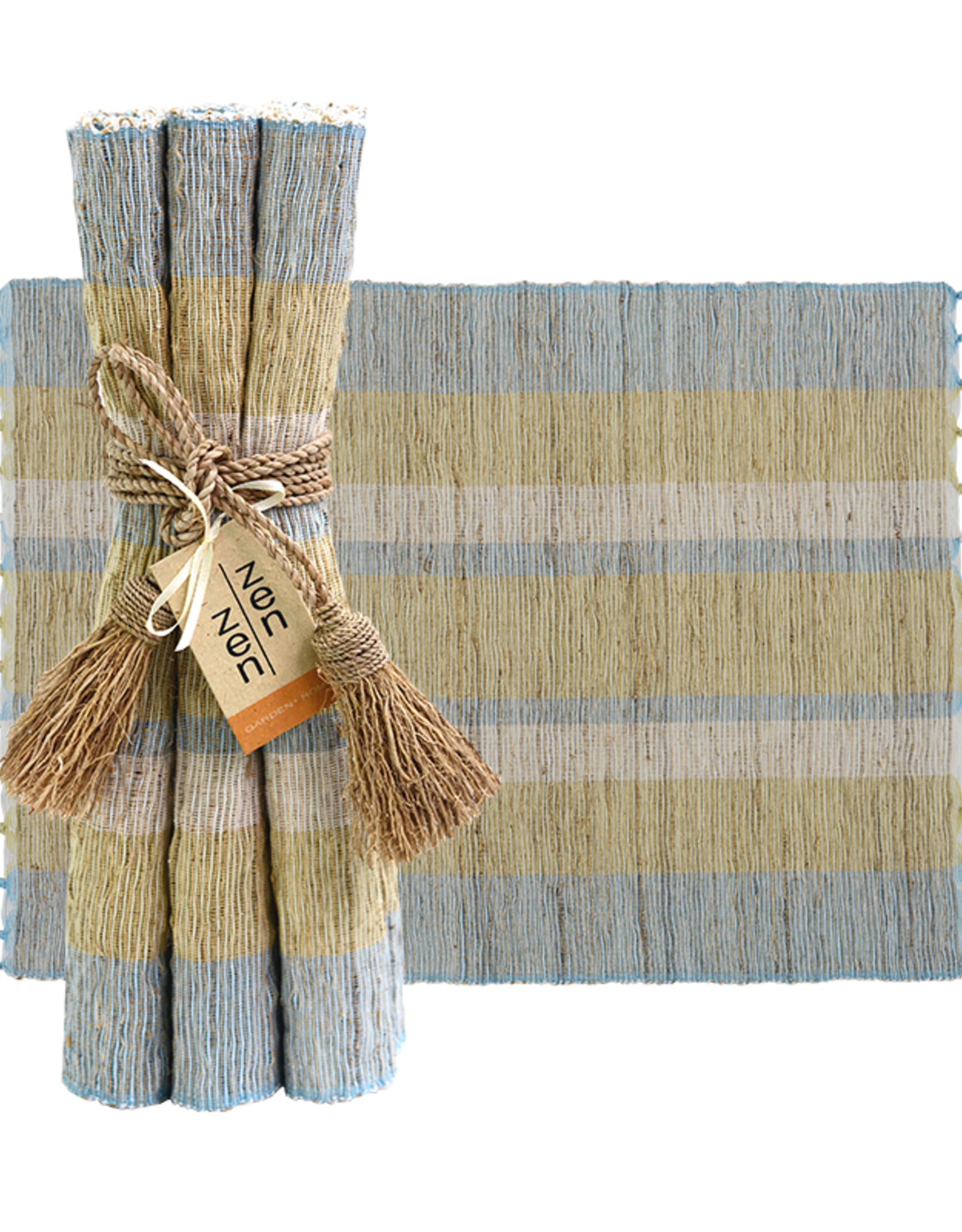 Vetiver Placemat Set of 6 - Serene Stripe