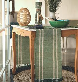Vetiver Table Runner - Emerald