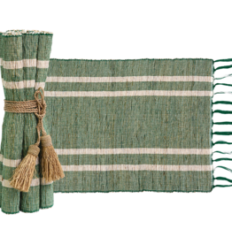 Vetiver Placemat Set of 6 - Emerald
