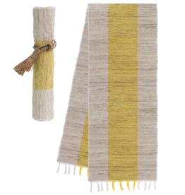 Vetiver Table Runner - Sunshine