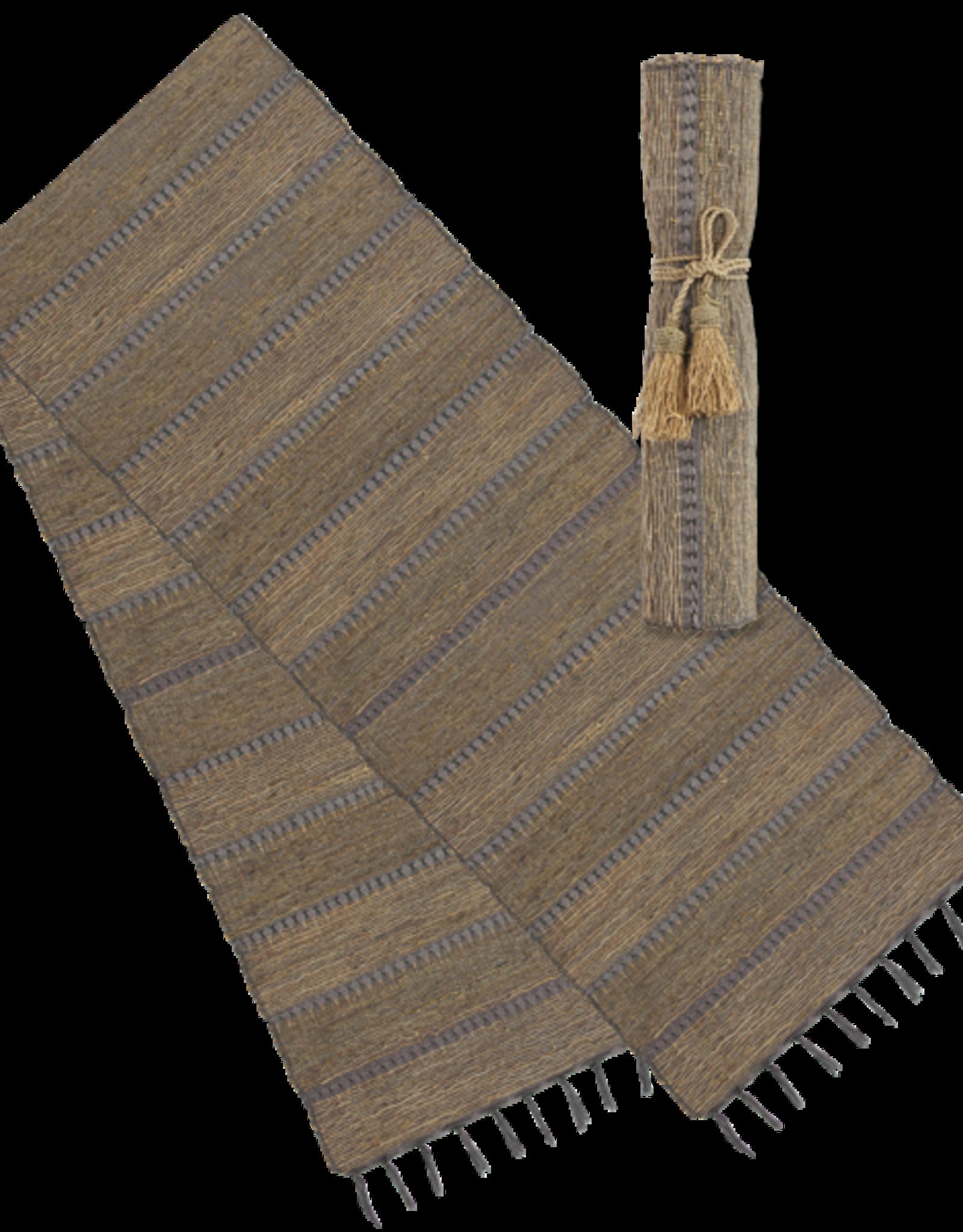 Vetiver Table Runner - Stormy Stripes