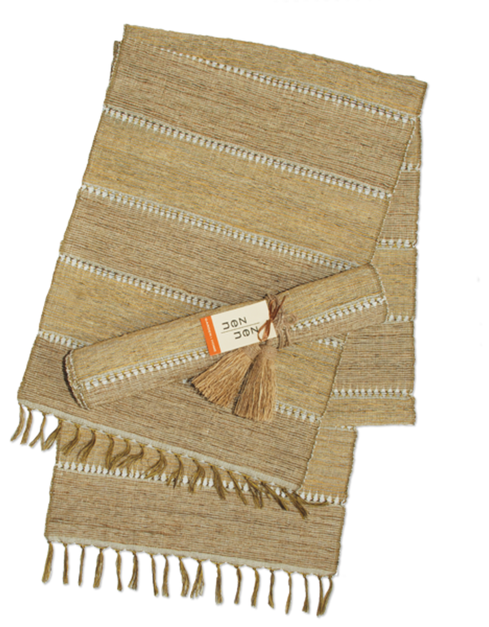 Vetiver Table Runner - Beige Stripe