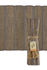 Vetiver Placemat Set of 6 - Stormy Stripes