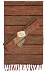 Vetiver Table Runner - Brick Stripe