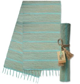 Vetiver Table Runner - Pistachio Aqua