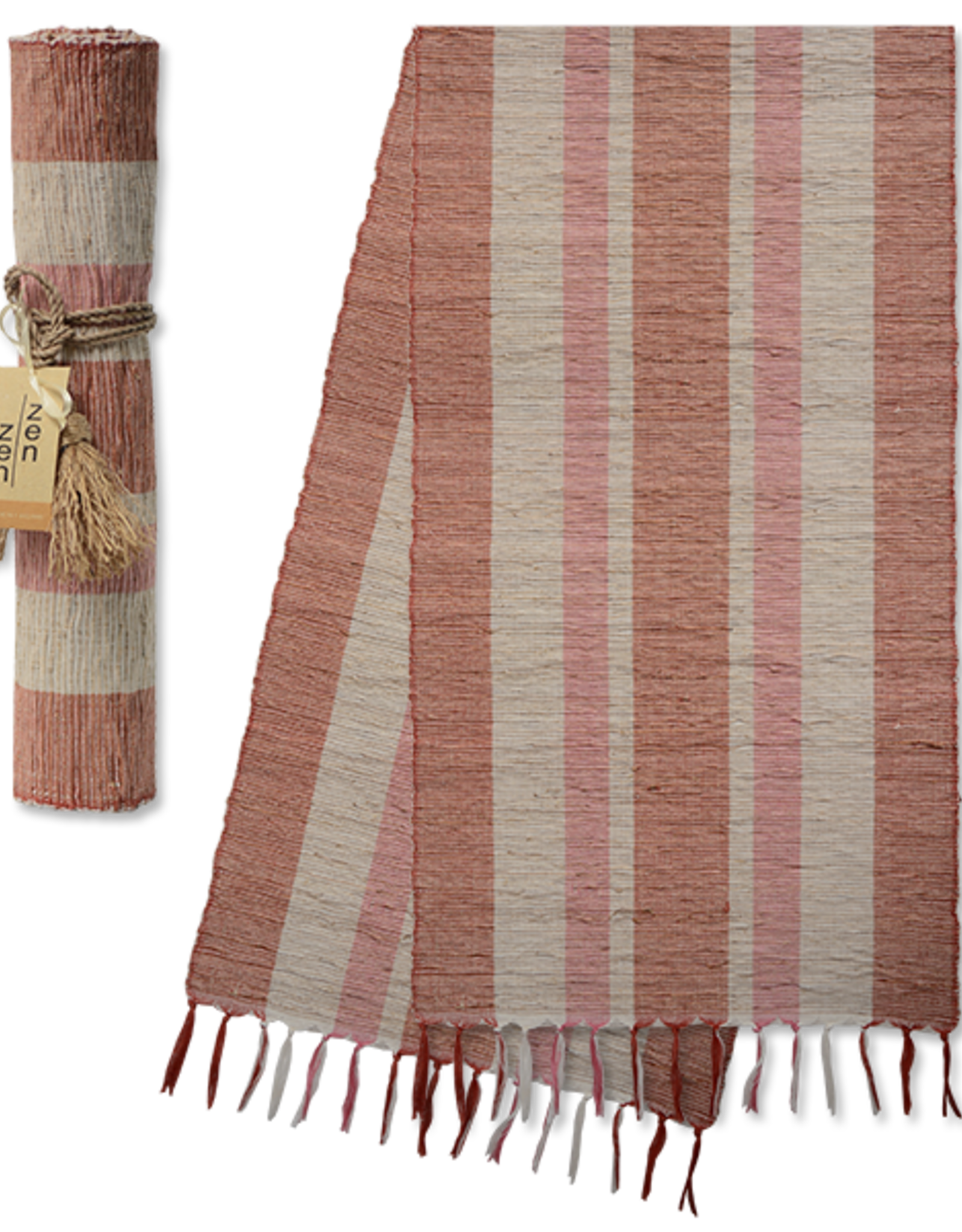 Vetiver Table Runner - Autumn Blush