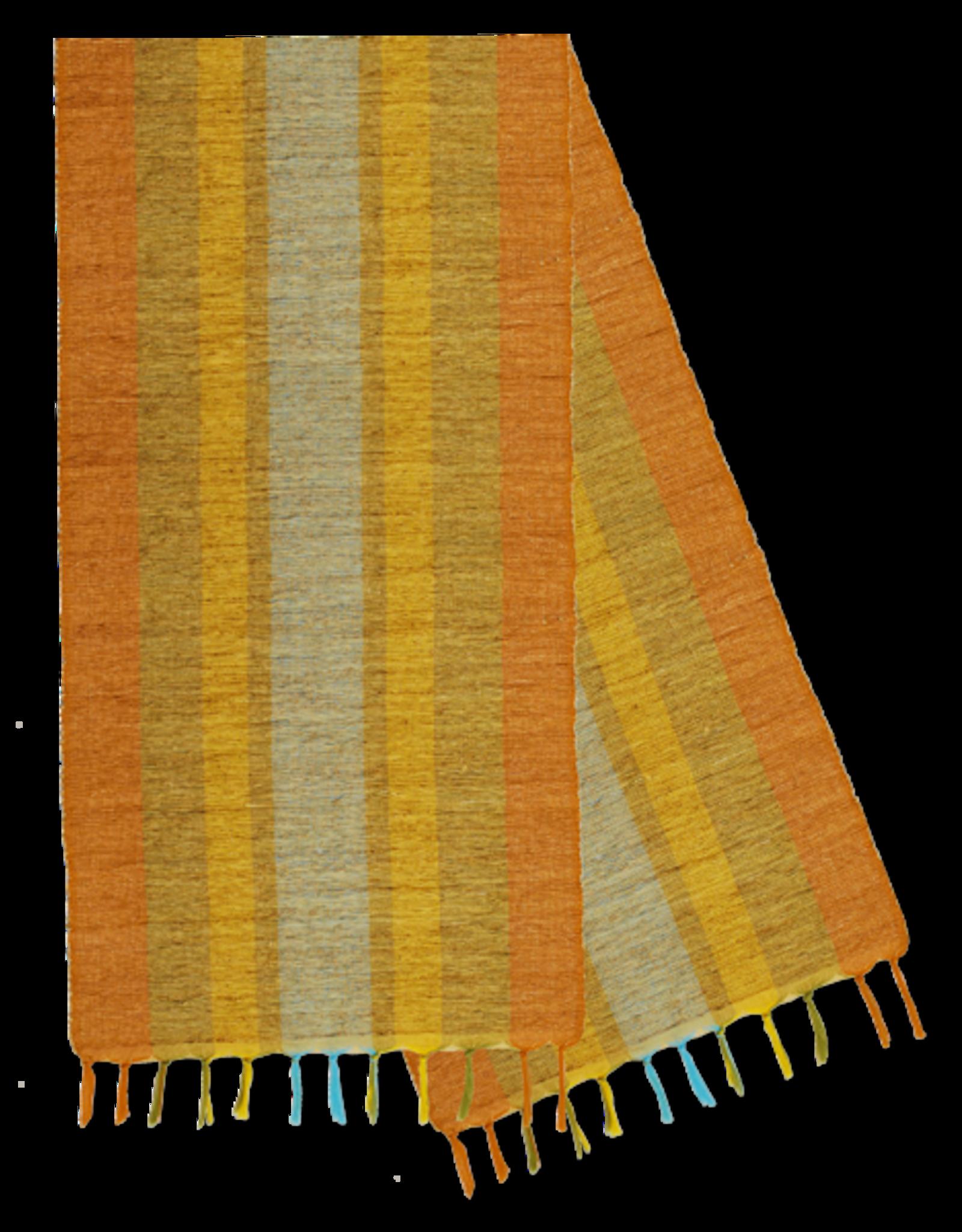 Vetiver Table Runner - Fiesta Citrus Stripe