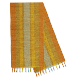 Vetiver Table Runner - Fiesta Citrus Stripe