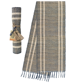 Vetiver Table Runner - Blue Ocean