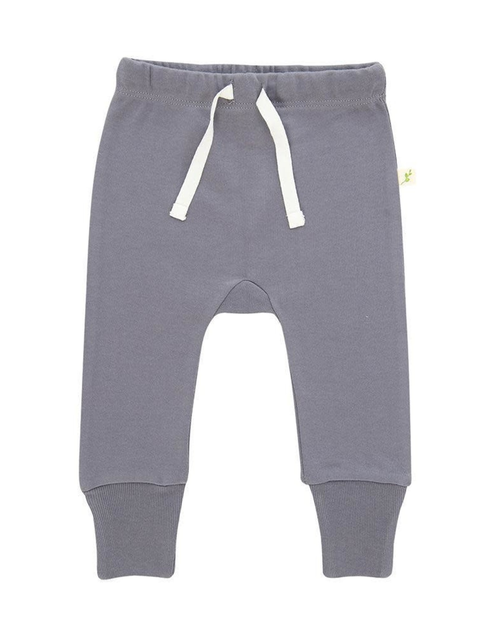 Tiny Twig Knitted Harem Pant with Cuffs - Soft Gray