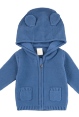 Tiny Twig Knitted Hoodie with Ears - Sapphire
