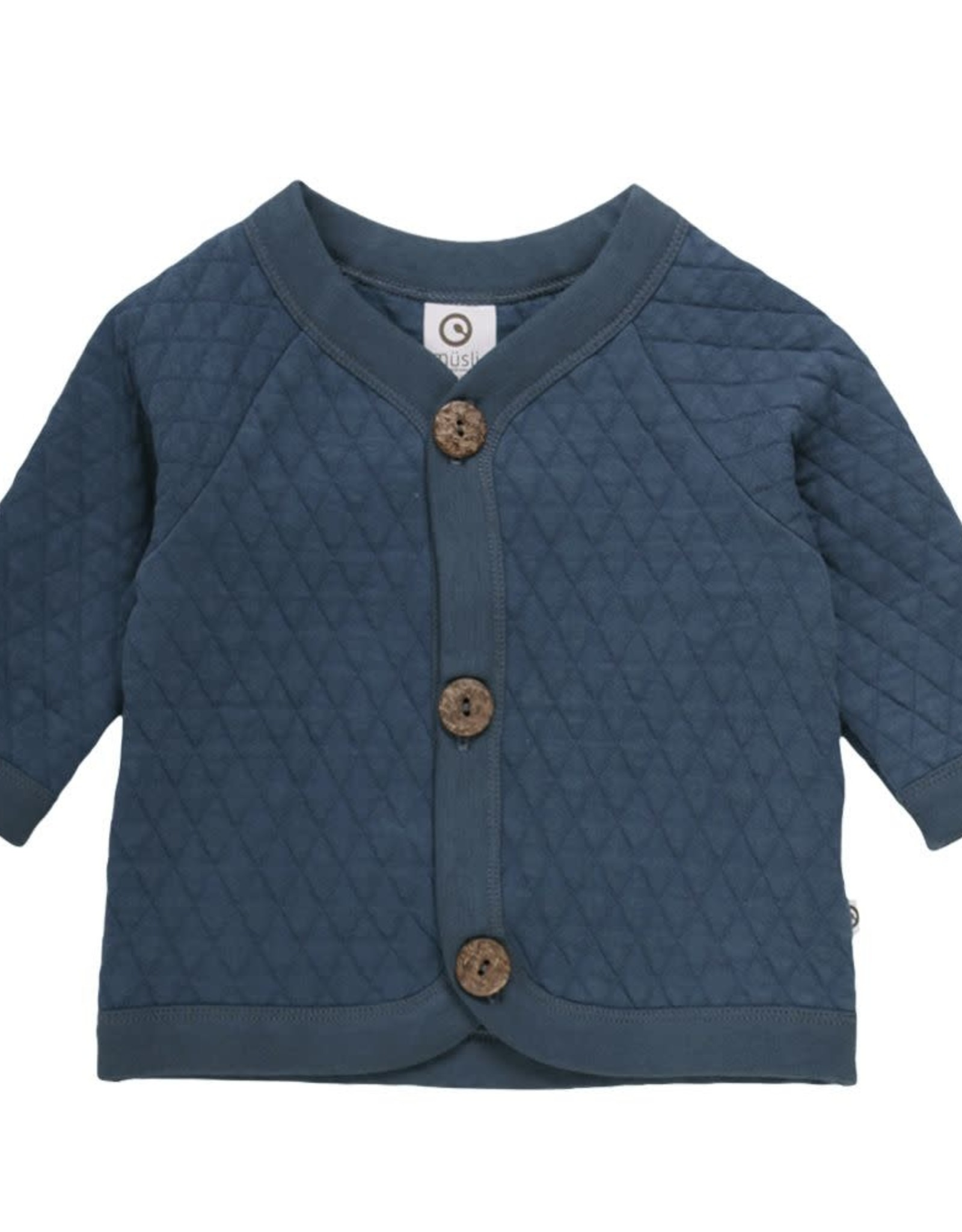 Müsli Quilted Cardigan Midnight
