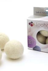LooHoo Wool Dryer Ball (3 Pack)- Naturals