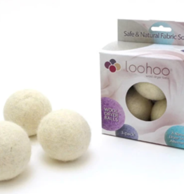 LooHoo Wool Dryer Ball (3 Pack)- Naturals