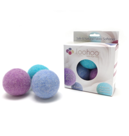 LooHoo Wool Dryer Ball (3 Pack)- Colors