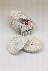 Crafted by Z Organic Cotton Reusable Facial Rounds - Set of 10