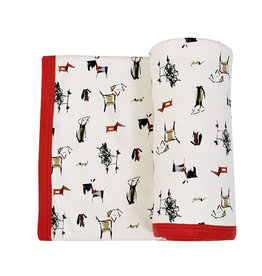 Finn & Emma Dogs Reversible Blanket