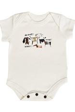 """Finn & Emma Dogs """"Woof""""  Bodysuit"""