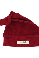 L'oved Baby Thermal Knot Hat Crimson