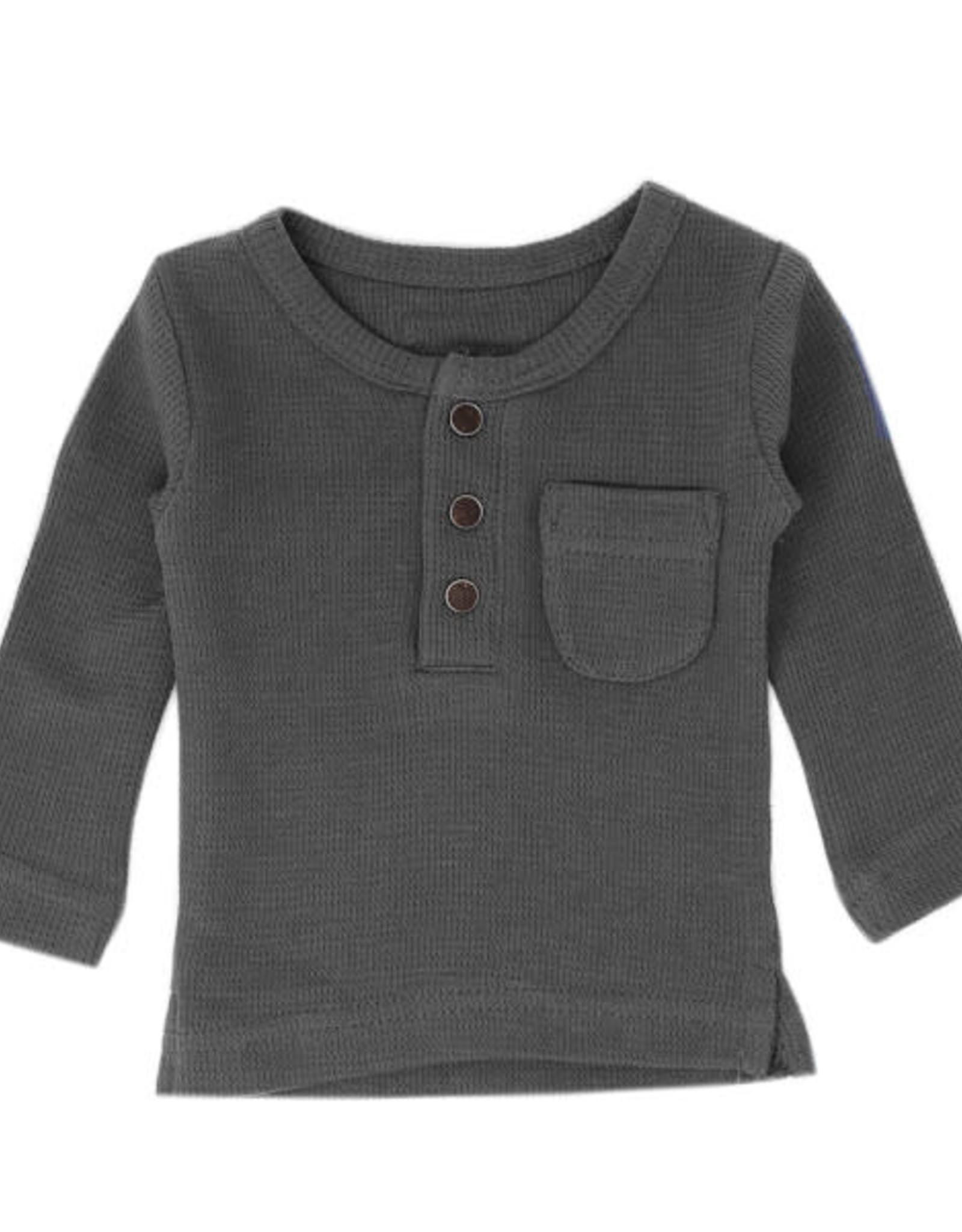 L'oved Baby Kids Long Sleeve Thermal Pajama Set Mist
