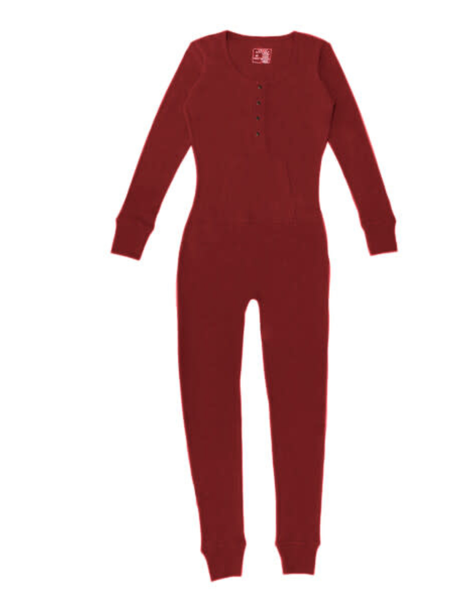 L'oved Baby Women's Thermal Onesie Crimson