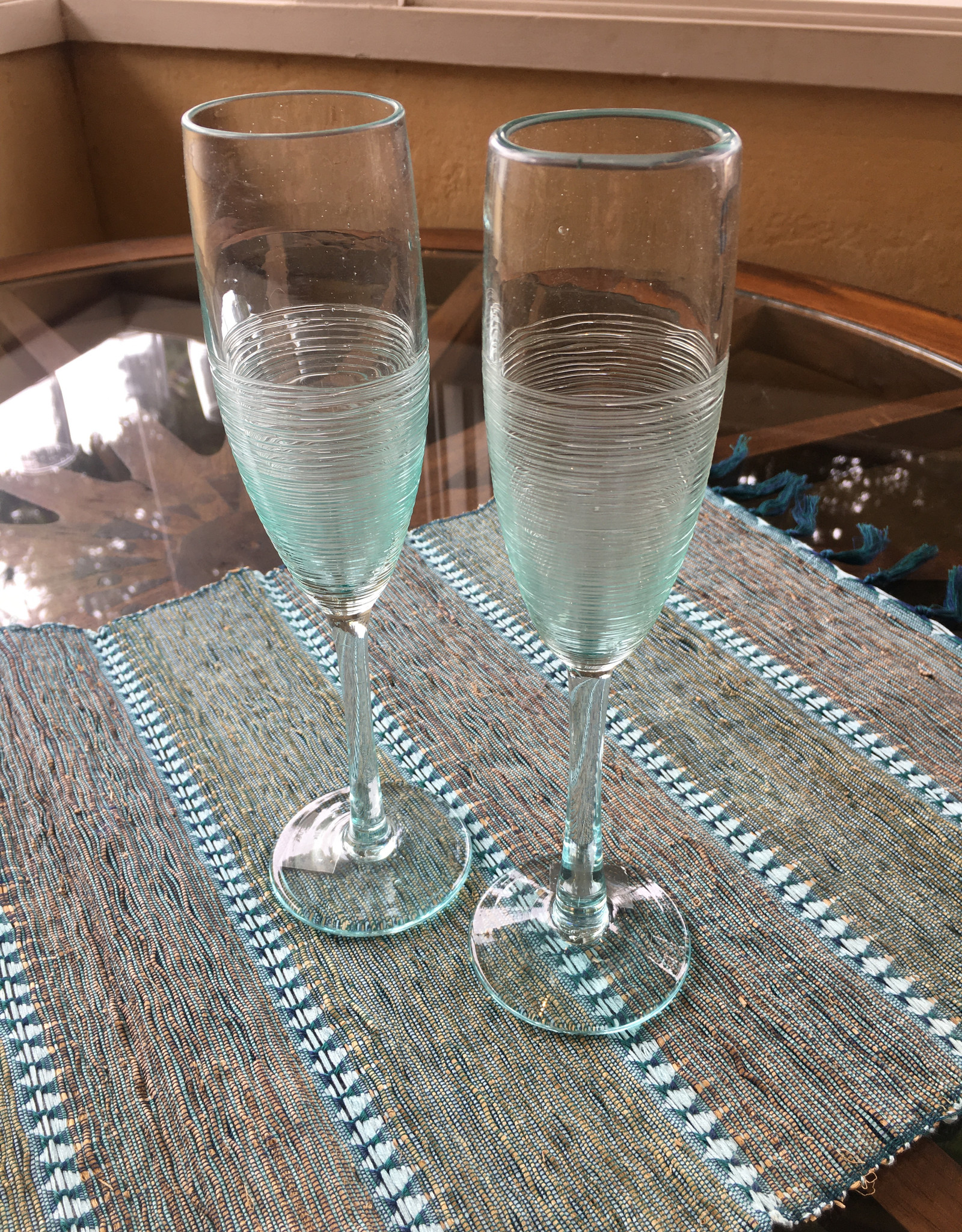 Recycled Glass Champagne Flute