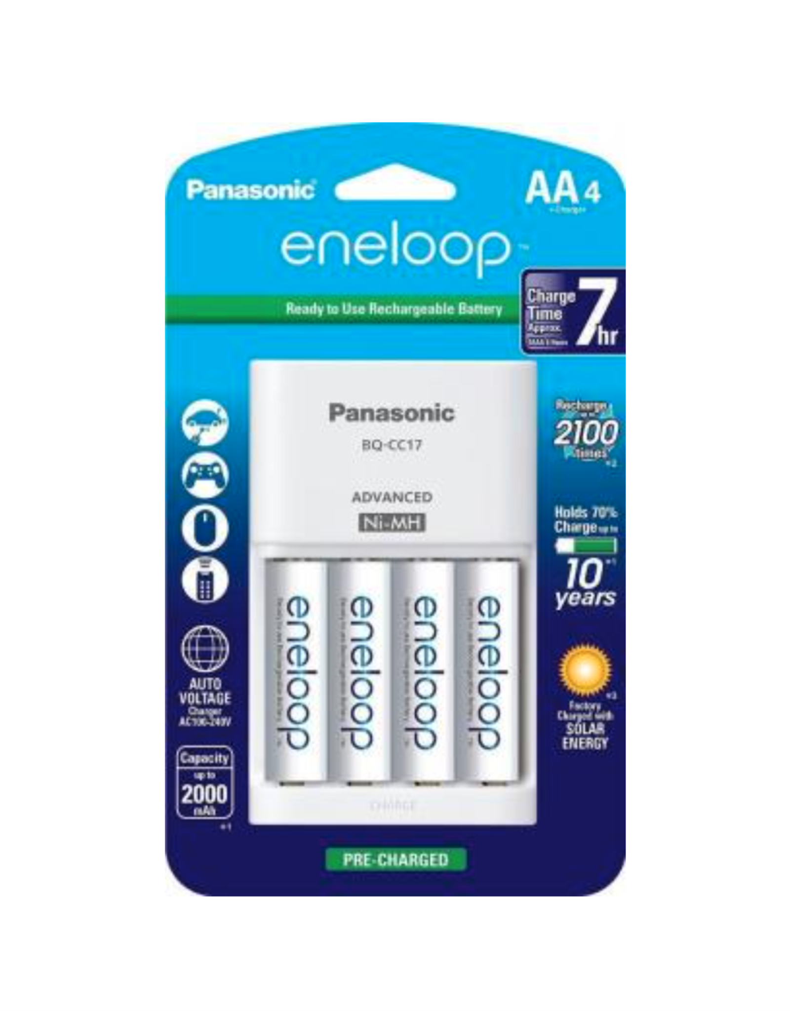 Eneloop Charger with 4AA Batteries