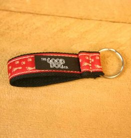 The Good Dog Company Best Friends Keychain Red Paws