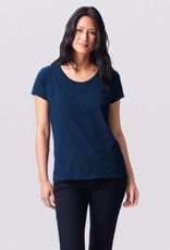 Essential Organic Cotton Tee Ink Blue Short Sleeve Large