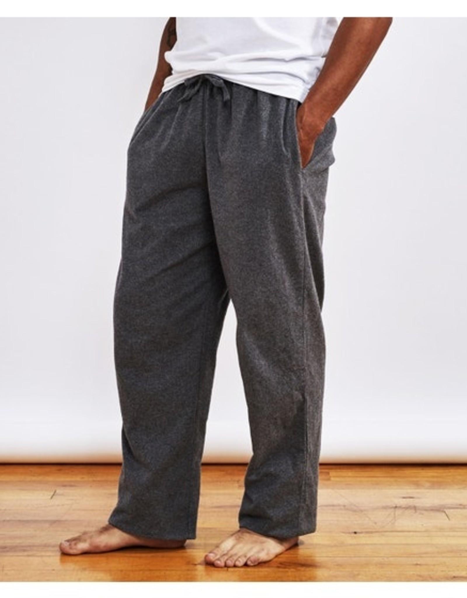 Men's Gray Flannel Pajama Pants - Small
