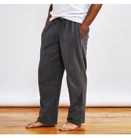 Men's Gray Flannel Pajama Pants - Small