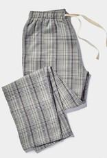 Men's Gray Plaid Pajama Pants - Small