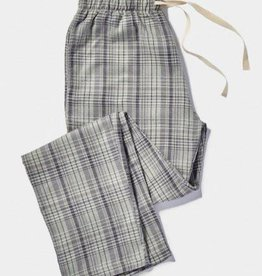 Men's Gray Plaid Pajama Pants - Small