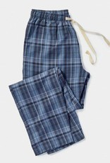 Men's Pajama Pant Blue Plaid - Small