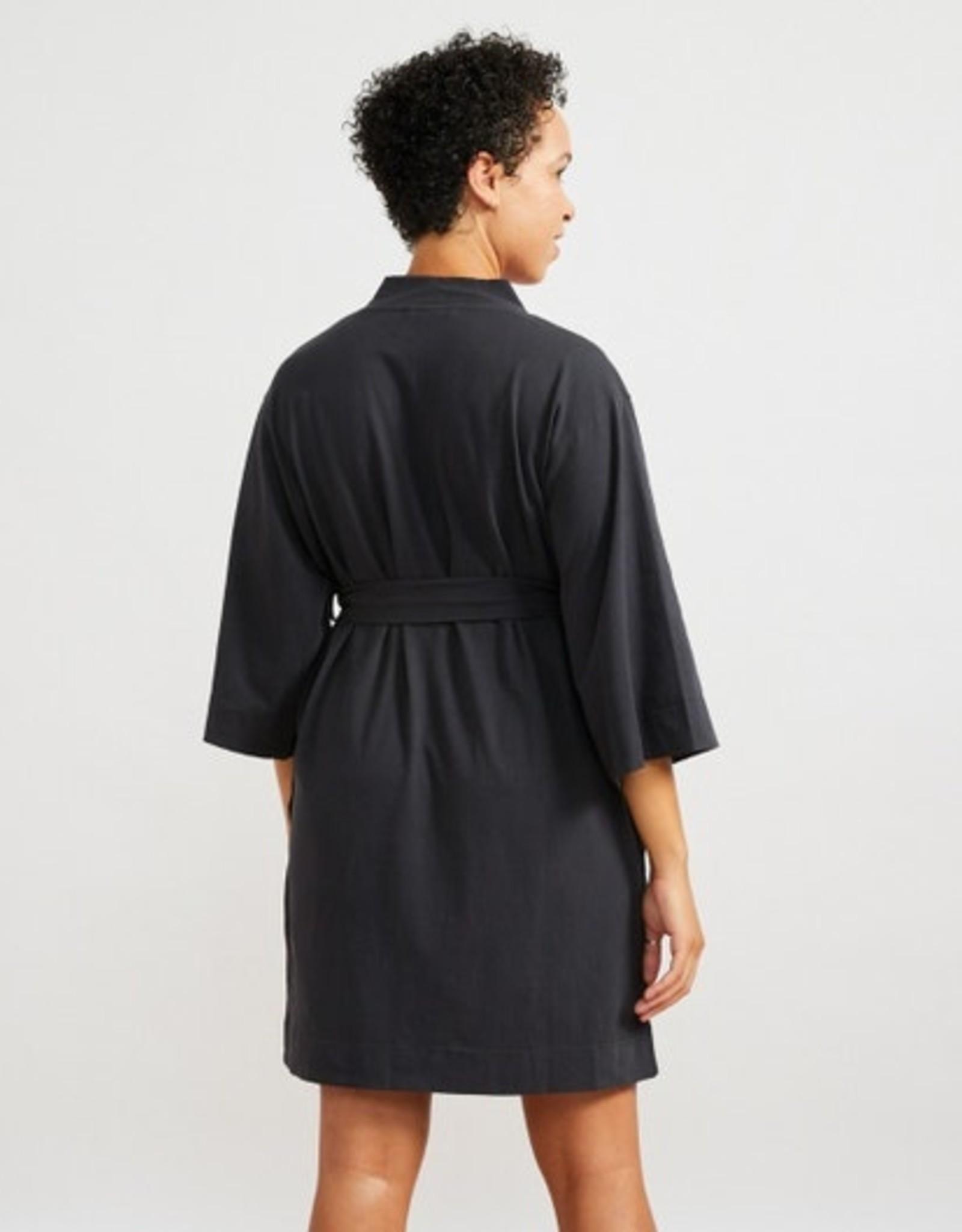 Solstice Kimono Robe Deep Graphite