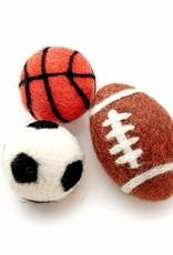 Friendsheep Wool Sporty Kitty Toys (Set of 3)